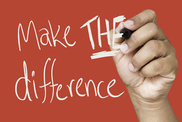 Make the difference hand writing on a transparent board