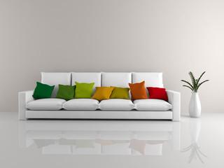 Minimalist sofa white