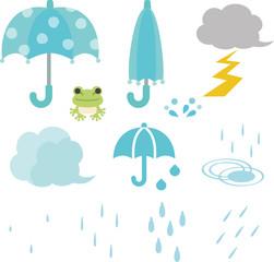 雨と傘の素材