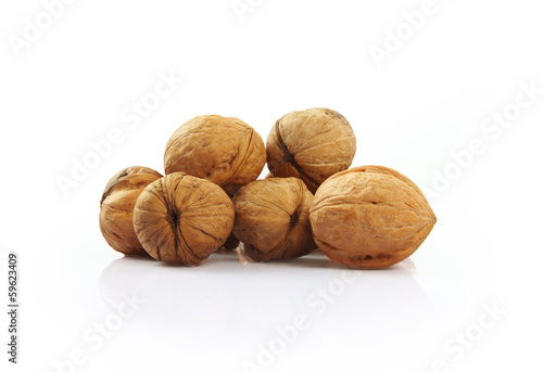 Walnuts Isolated on White