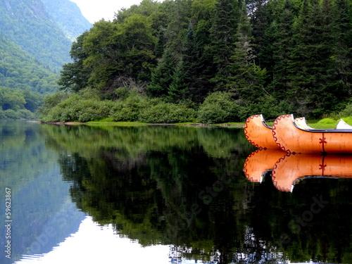 Papiers peints Sauvage Rivière Québec Amérique Canada Canoë Indien Lac Lake Indian