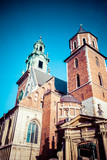 Wawel Cathedral,famous Polish landmark on the Wawel Hill,Cracow