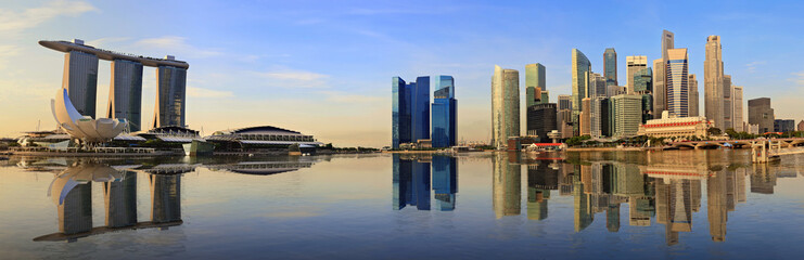 Singapore panorama skyline in the morning