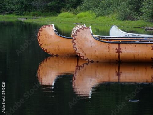 Spoed canvasdoek 2cm dik Grote meren Rivière Québec Amérique Canada Canoë Indien Lac Lake Indian