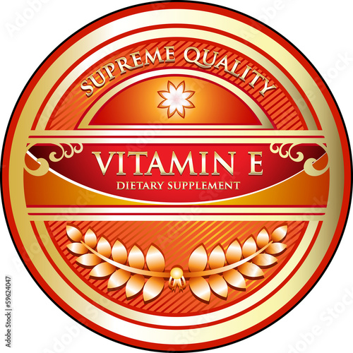 Vitamin E Dietary Supplement Label