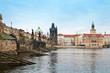 Piles of the Charles bridge in Prague
