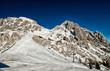 Alps in winter, Ski resort Nassfeld - Mountains Alps, Austria