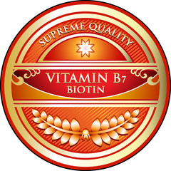 Vitamin B7 Supreme Quality Label