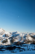 Alps in winter, Ski resort Nassfeld - Mountains Alps, Austria