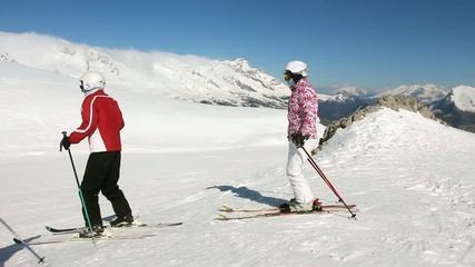 Ski sur les pistes