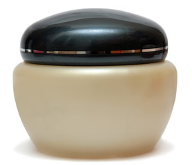 close up of beauty hygiene container on white background with