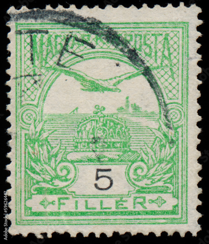 HUNGARY - CIRCA 1900: a stamp printed in Hungary shows falcon, c