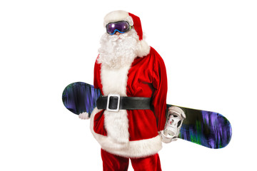 santa snowboarder