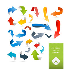 Colorful Abstract Arrows Set