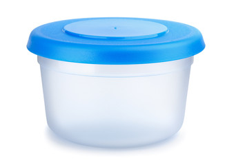Round plastic food container