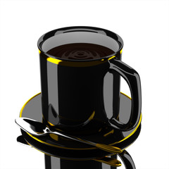 3d coffee cup luxury.