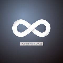 Abstract infinity symbol