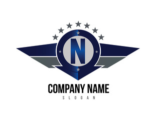 Letter N shield logo