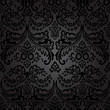 Damask Vintage Floral Seamless Pattern Background.