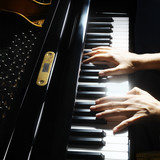 Piano hands pianist playing