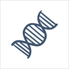 DNA symbol isolated on white.