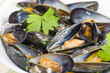 Moules Marinieres - Mussels cooked with white wine sauce. - 59633214