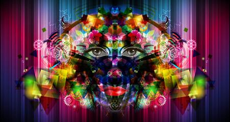 абстрактный яркий фон