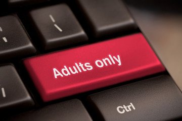 adults only message on enter key