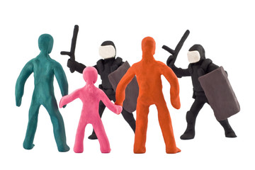 plasticine dispersal of peaceful demonstrations