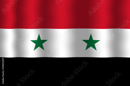 Waving Syria Flag