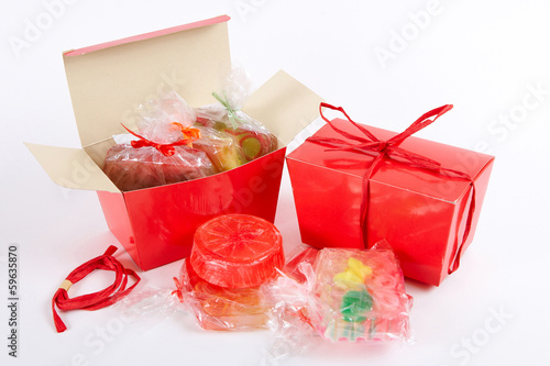 Red  handmade soap