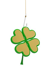 Clover on the hook