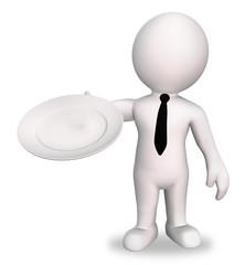 Kellner serviert