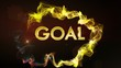 GOAL Gold Text in Particles, with Final White Transition