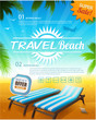 Summer beach vacation background