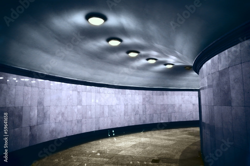Modern walkway interior - 59641658