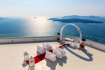 Romantic place for wedding ceremony in Santorini