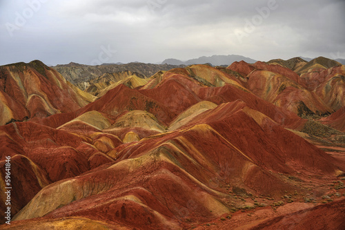 The Danxia mountain in Zhangye of Gansu province of China.