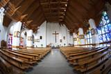 The Catholic Church interior, fisheye view. - 59642421