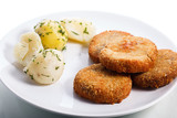 Cutlets with boiled potato