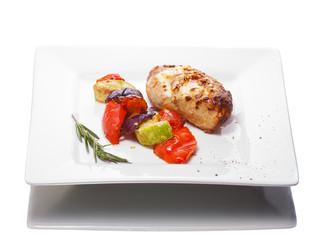 Grilled meat wit vegetables