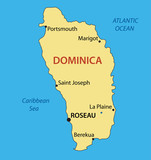 Commonwealth of Dominica - vector map
