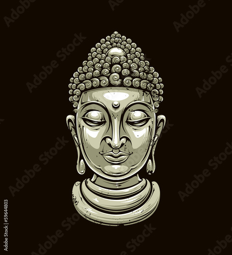 Vector buddha head