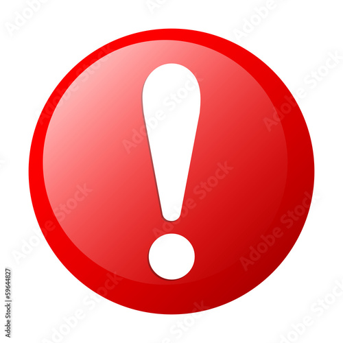bouton internet attention exclamation danger red icon