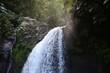 Saut de la Lezarde waterfalls in French west indies Island