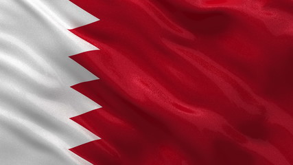 Flag of Bahrain waving in the wind - seamless loop