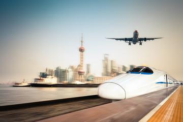 transportation and modern urban background