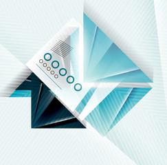 Blue abstract triangle shape geometric background