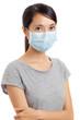 Asian woman wear face mask