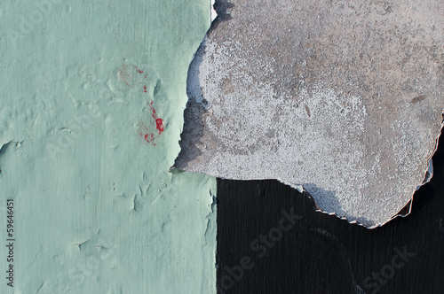 old paint peeling of concrete wall, texture